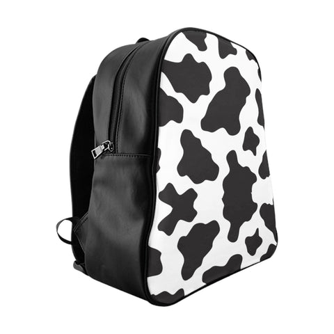 Cow Print School Backpack