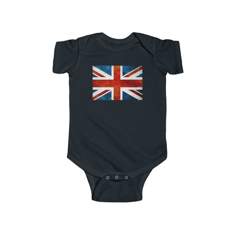 UK Flag Baby Onesie Infant Fine Jersey Bodysuit