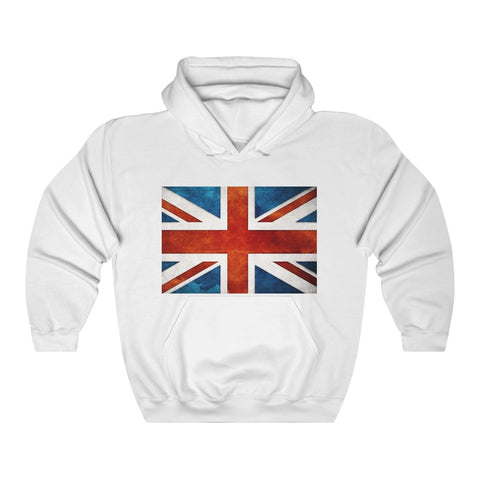 UK Flag Hoodie Unisex Heavy Blend™ Hooded Sweatshirt Including Plus Sizes