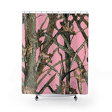 Pink Camo Shower Curtain with Hunting Pattern