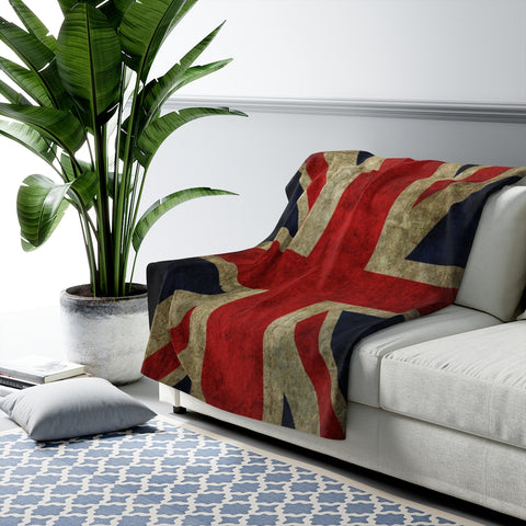 UK Flag Sherpa Fleece Blanket