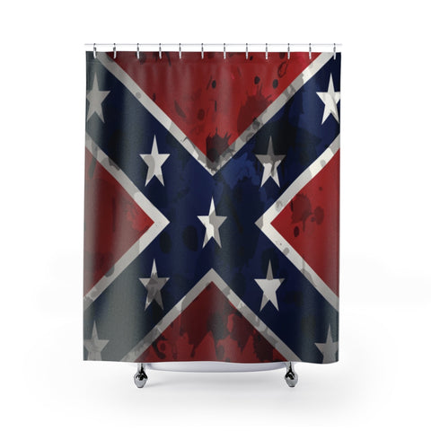 Confederate Flag Grunge Shower Curtain