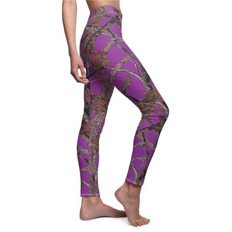 Purple Camo Leggings Hunting Pattern