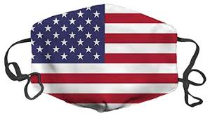 USA American Flag Washable Face Mask With Filter Slot