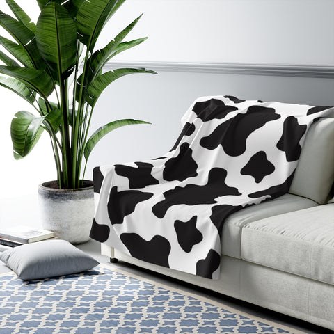 Cow Pattern Sherpa Fleece Blanket