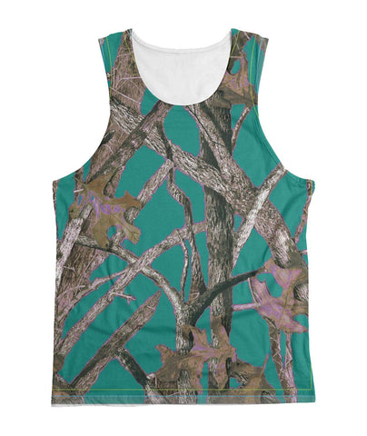 Teal Camo Tank Top Sublimation Tank
