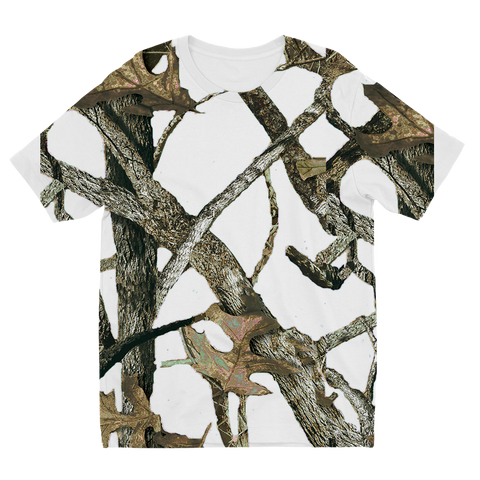 White Camo Sublimation Kids T-Shirt