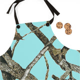 Teal Camo Apron In Outdoors Pattern