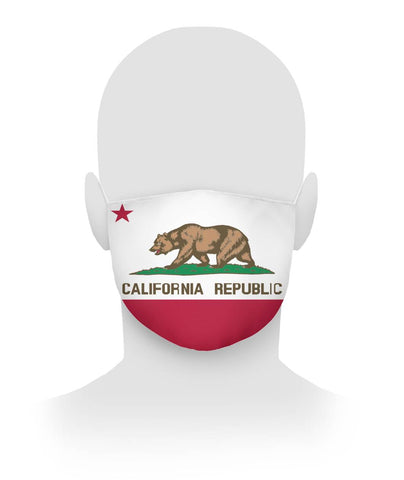 California Republic Flag face covering for the mouth and nose cloth