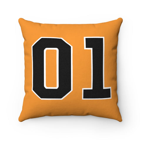General Lee 01 Dukes Square Throw Pillow