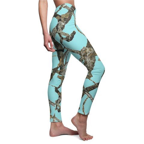 Teal Camo Leggings