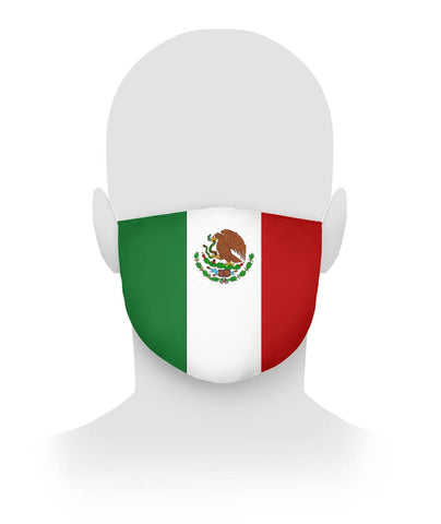 Mexican Flag Face Mask Cloth Face Mask