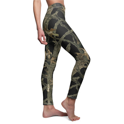 Made In American Black Camouflage Leggings Hunting Pattern