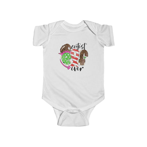 Cutest Elf Ever Baby Onesie With Christmas Print
