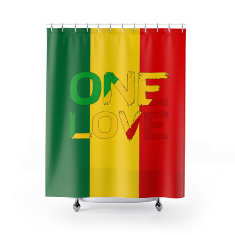 One Love Shower Curtain For Peace and Reggae