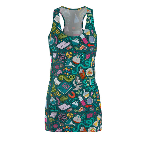 Science Green Chalk Board Racerback Dress