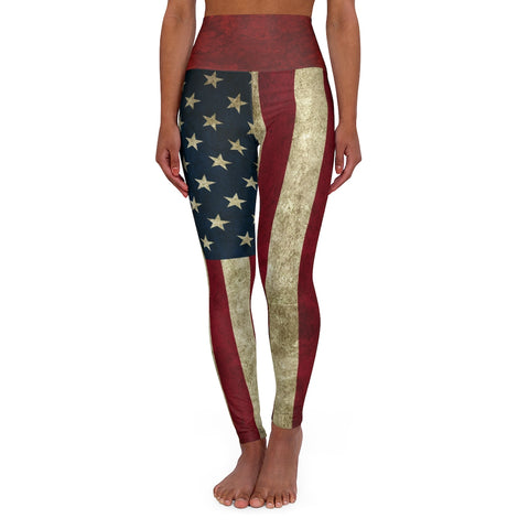 Steampunk American Flag Leggings High Waist