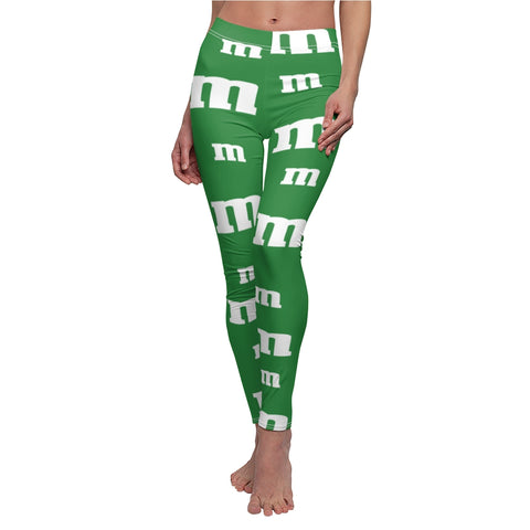 Green M Leggings Chocolate Candy