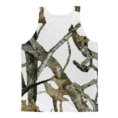 White Camo White Camo Adult Tank Top