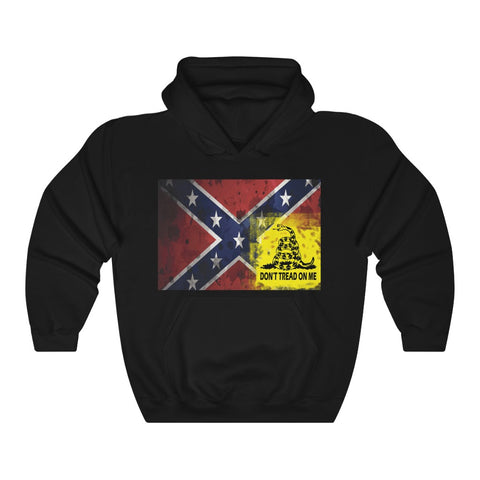 Rebel and Gadsden Don't Tread On Me Flag Hoodie