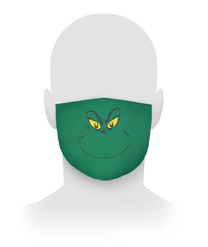 Grinch Face Mask Cloth Face Mask