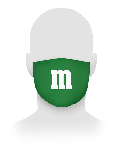 Green M M Face Mask Cloth Face Mask