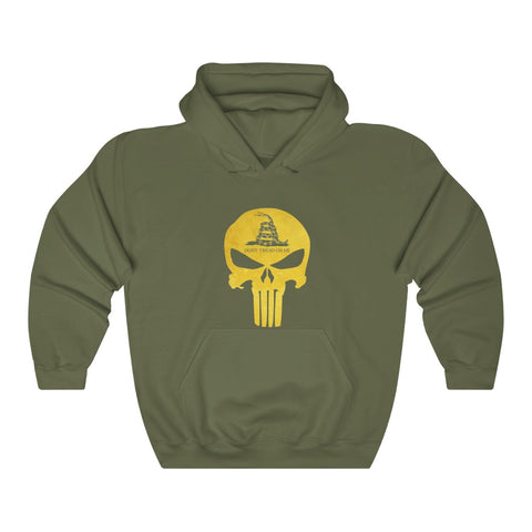 Don't Tread On Me Skull and Rattlesnake Gadsden Flag Hoodie