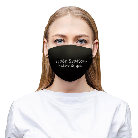 Add Your Logo - Set of 10 Black Cotton Double Layer Washable Face Mask For Businesses