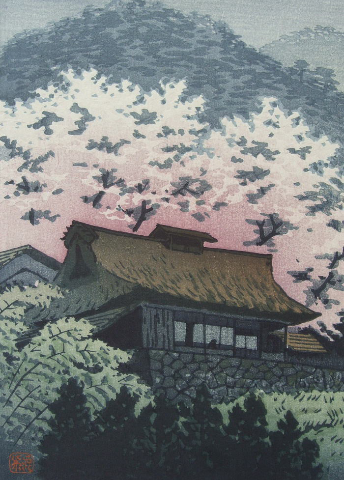 Sanka no Haru  (Mountain Cottage in Spring) - SAKURA FINE ART