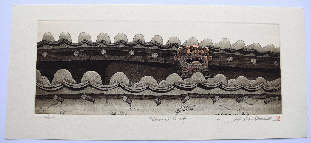 Okinawa Roof From Okinawa series - SAKURA FINE ART
