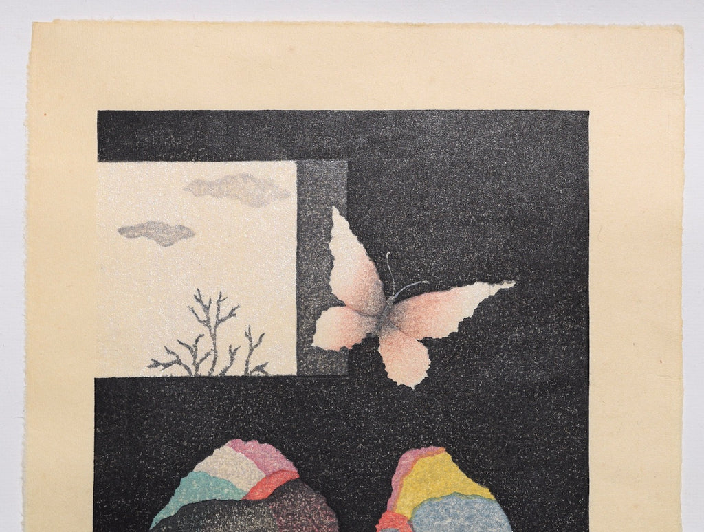 Ko Cho -Ko Sou  ( A Butterfly and A Window ) - SAKURA FINE ART
