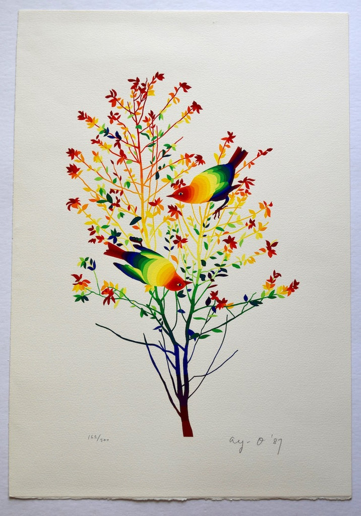 Two Birds on the Tree - SAKURA FINE ART