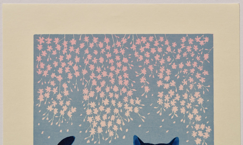 """Cats and Cherry Blossoms"" from Cat series 201"
