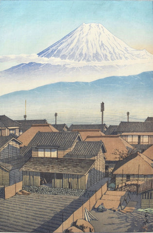 Motoyoshiwara no asa  (Motoyoshiwara at Morning)