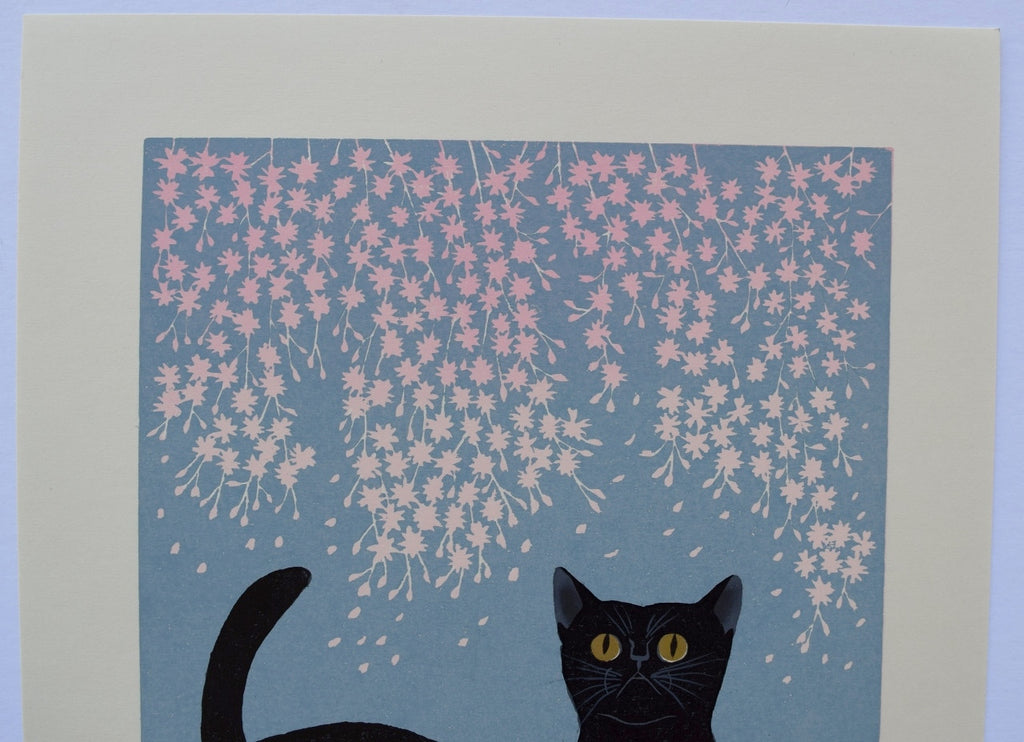 """Cats and Cherry Blossom"" from Cat series 200 - SAKURA FINE ART"