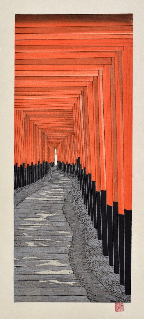 Senbon torii ( A Thousand Torii at the Fushimi Inari Shrine)