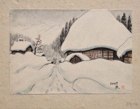 Ooyuki no Mura (The Village in Heavy Snow) - SAKURA FINE ART
