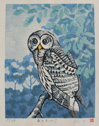 Gazing at the Happiness, Owl - SAKURA FINE ART