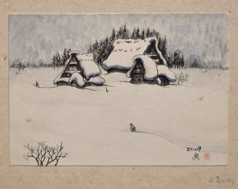 Fuyu Shirakawago (Shirakawa Village at Winter) - SAKURA FINE ART