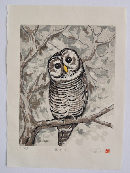 Be Happy, Owl - SAKURA FINE ART