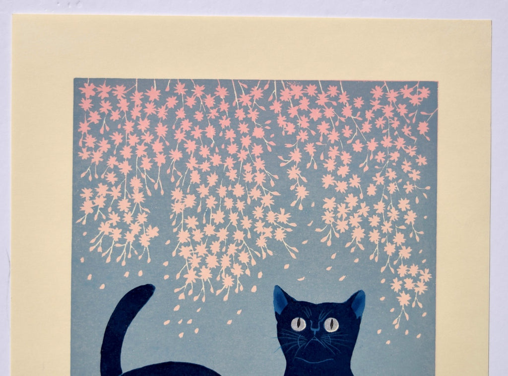 """Cats and Cherry Blossoms"" from Cat series 201 - SAKURA FINE ART"