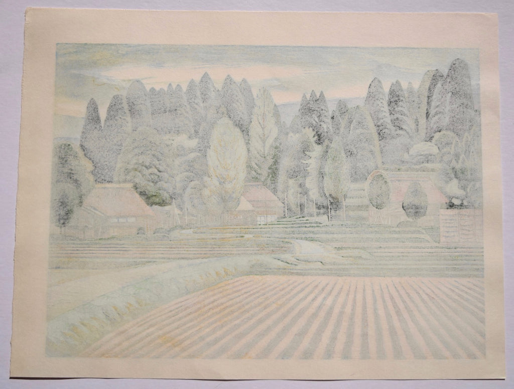 Yamafutokoro no Mura (The Village of Bosom of  Mountain) - SAKURA FINE ART