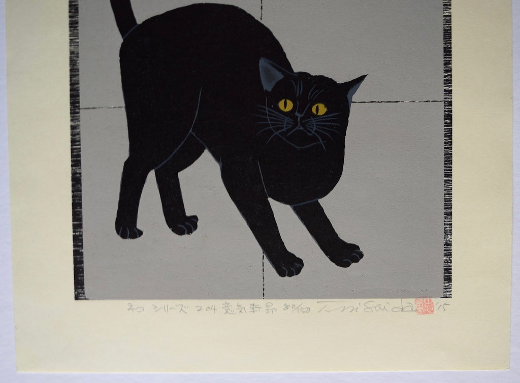The Elated Black Cat