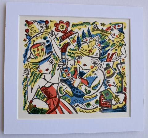 Mini Matted Print  #19  - Hisao Someya - SAKURA FINE ART