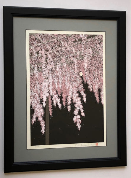 Weeping Cherry and Full Moon, Kyoto - Limited edition -
