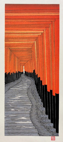 - Senbon torii ( A Thousand Torii at the Fushimi Inari Shrine) -