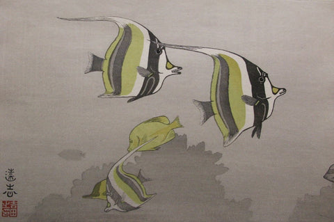 Hawaii no sakana A  ( Hawaiian Fishes, A ) - SAKURA FINE ART
