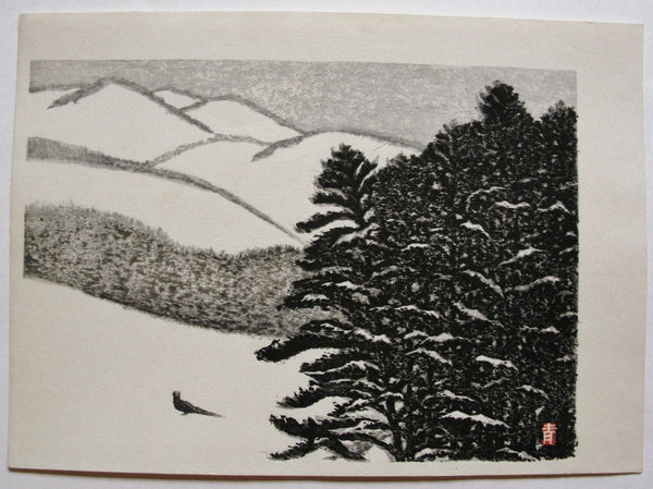 A bird on Snow - SAKURA FINE ART