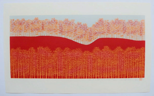 Hirogaru kigi 5 beni-iro  ( Stretch of Trees -red )