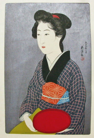 Kyo no Yado, Onao (Young Woman in a Summer Kimono)